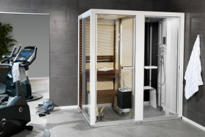 Tylo Twin sauna hammam douche