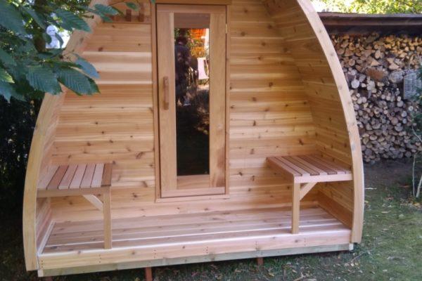 Sauna exterieur en cèdre brabant wallon