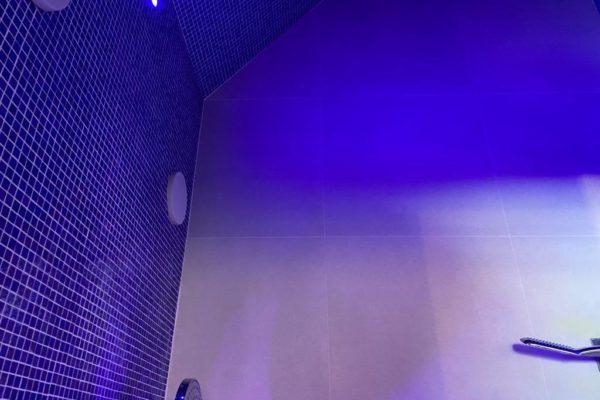 Installation douche hammam sur mesure en mosaique Bienfait Wellness & spa