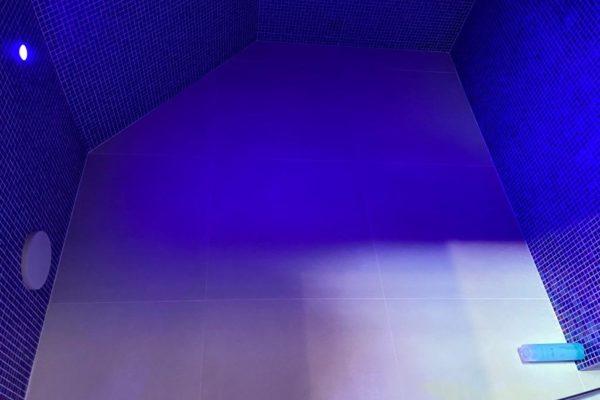 Installation Douche Hammam sur mesure sous pente